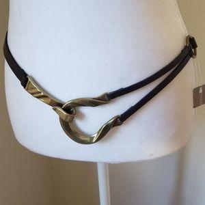 Chico's Twisted Horseshoe Leather Belt NWT